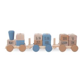 Speelgoedtrein blue met of zonder naam - Jollein
