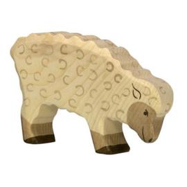 Houten schaap etend 10,5 cm - Holztiger