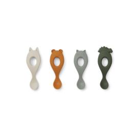 Liva siliconen lepeltjes 4-pack - Hunter green mix - Liewood