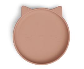 Siliconen bord cat dark rose - Liewood