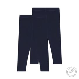 Meisjes legging Nadia donkerblauw 2-pack - Koko Noko
