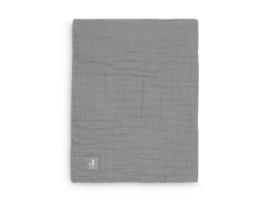 Deken wrinkled cotton 120x120cm storm grey - Jollein