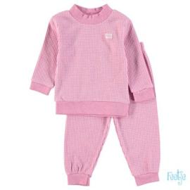 Feetje pyjama wafel roze melange - Feetje