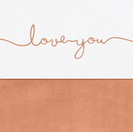 Laken 75x100cm Love you caramel - Jollein