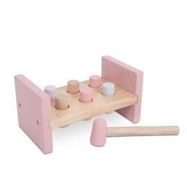 Houten Hamerbank - Pink met of zonder naam - Jollein