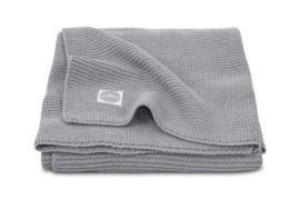 Deken 100x150cm basic knit stone grey - Jollein