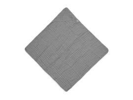 Badcape wrinkled cotton 75x75cm storm grey - Jollein