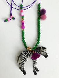 Zizi Zebra Ketting - ByMelo