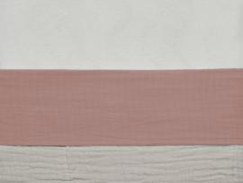 Laken 120x150cm wrinkled cotton rosewood - Jollein