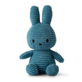 Nijntje corduroy blauw - 23 cm