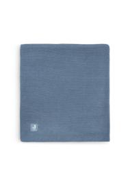 Deken 100x150cm Basic knit jeans blue - Jollein