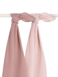 Hydrofiel Bamboe 115x115 cm Pale Pink 2-pack - Jollein