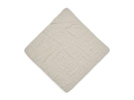 Badcape wrinkled cotton 75x75cm nougat - Jollein