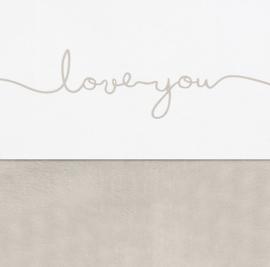 Laken 75x100cm Love you nougat - Jollein