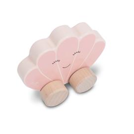 Houten Speelgoedauto - Schelp - Pink - Jollein