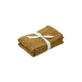Lewis hydrofiele doeken 2-pack - Confetti olive - Liewood