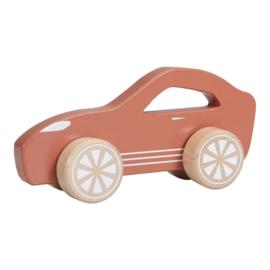 Houten Sportauto Roest met of zonder naam - Little dutch