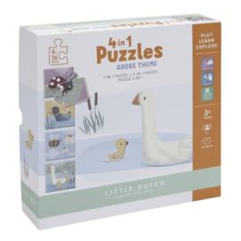 4 in 1 puzzel Little Goose - Little dutch