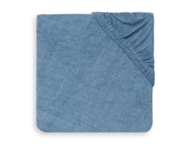 Aankleedkussenhoes badstof 50x70cm jeans blue - Jollein