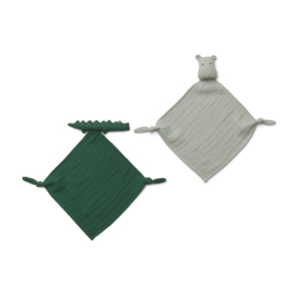 Knuffeldoek Yoko Mini Safari green mix (2-Pack) - Liewood