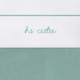 Laken 120x150cm Hi cutie ash green - Jollein