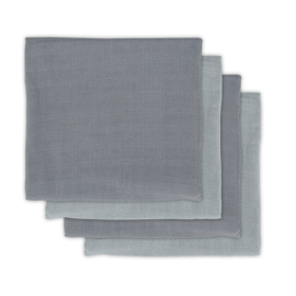 Hydrofiel Multidoek Bamboe 70x70cm Storm grey 4-pack - Jollein