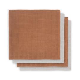 Hydrofiel Multidoek Bamboe 70x70cm Caramel 4-pack - Jollein