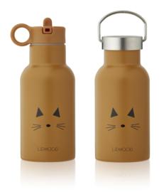 Water- en thermosfles Cat mustard - Liewood