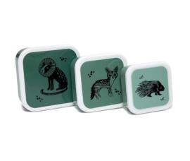Bakjes set black animals salie - Petit Monkey