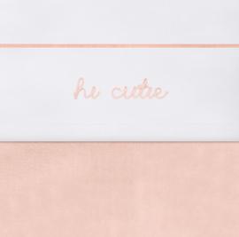 Laken 75x100cm Hi cutie pale pink - Jollein
