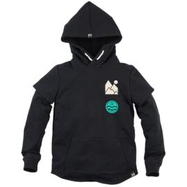 Hooded sweater Mace Black bat - Z8