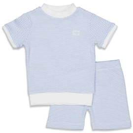 Pyjama kort wafel Blauw - Feetje