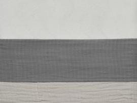Laken 120x150cm wrinkled cotton storm grey - Jollein