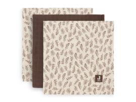 Hydrofiele doek 70x70 cm Meadow chestnut 3-pack
