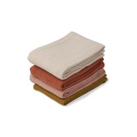 Leon hydrofiele doeken 4 Pack - Rose multi mix - Liewood