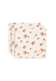Hydrofiele doek 70x70 cm Peach 3-pack