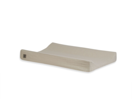 Aankleedkussenhoes wrinkled cotton 50x70cm nougat - Jollein