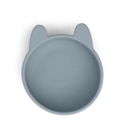 Siliconen kom Rabbit sea blue- Liewood