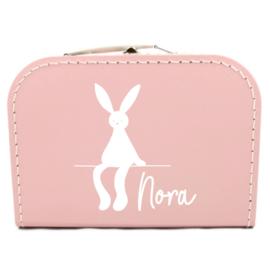 Koffertje met naam - konijn