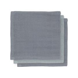 Monddoekjes hydrofiel Bamboe Storm grey - 3-pack - Jollein