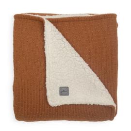 Deken teddy 75x100cm Bliss knit Caramel - Jollein