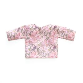 Poppenshirtje – Bloemen roze