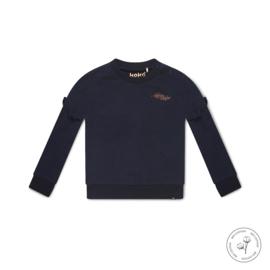 Meisjes sweater Nova donkerblauw - Koko Noko