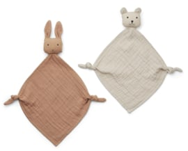 Knuffeldoek Yoko Mini Tuscany rose/sandy mix (2-Pack) - Liewood