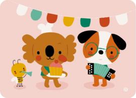 Kaart Cupcake party - Bora