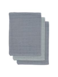 Washandjes Hydrofiel Bamboe - Storm grey 3-pack - Jollein