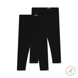 Meisjes legging Nadia zwart 2-pack - Koko Noko