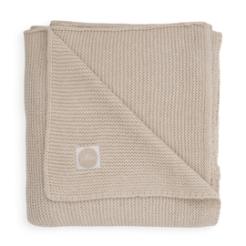 Deken 75x100cm Basic knit nougat - Jollein