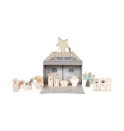 Speelkoffer kerststal - Little dutch