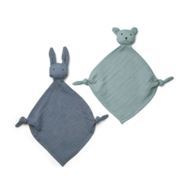 Knuffeldoek Yoko Mini Blue mix  (2-Pack) - Liewood